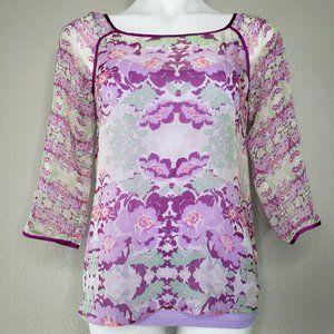 Ella Moss | NWT Lavender Mint Floral Blouse & Cami